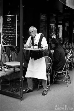 Parisian Waiter #8 by Sebastien MANOURY