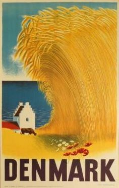 Not really retro-future style, but this 1946 travel poster reminds me of Samsø. Old Poster, Poster Ads, Poster Vintage, Advertising Poster, Vintage Travel Posters, Poster Prints, Illustrations Vintage, Illustrations And Posters, Travel Ads