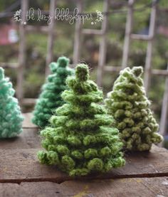 El Lazy Hobbyhopper: ganchillo árbol de navidad - modelo libre