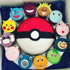 """67 Me gusta, 2 comentarios -  (@jeannecakes_n_more) en Instagram: """"#pokemon#pokemoncake#cake#vanilla#vanillacake#nutella#butterscotch#caramel#butterscotchcaramel#pokeball#cupcakes#cupcakesfilledwithnutella#birthday#happy#happybirthday#bestie#bestfriends#nevergettingold#birthdaycake#sugarpaste#sugarpastecake#sugarart#instaphoto#instabirthday#instapokemon#jeannecakesnmore"""""""