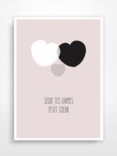 Affiche déco pour chambre d'enfant * Coeur. : Décoration pour enfants par pagaille-et-cie