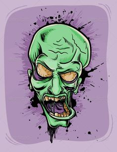Screaming Zombie  #GraphicRiver         Screaming zombie. Halloween retro poster…