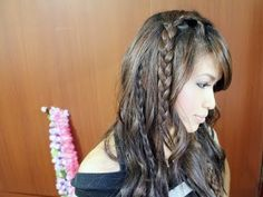 Easy Bohemian Braids & Waves Hairstyle.