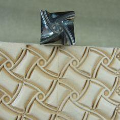 geometric Stamps | Hackbarth Stainless Leather Tool - Medium Crazy Legs Geometric Stamp