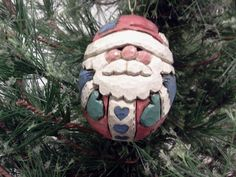 Folk Art Santa Ornament
