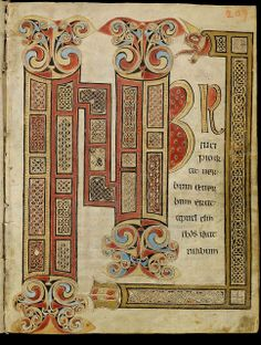 Initial page of the Gospel of St. John  The Irish Gospel Book of St. Gall. Gospels according to Matthew, Mark, Luke and John, illustrated ...