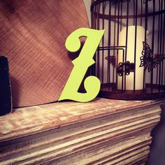 Hand-painted Wooden Letter Z   Wall Letters  by LoveLettersMe