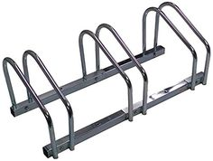 EasyGoProducts Triple Bike Rack Indoor/Outdoor Bicycle Storage Stand Heavy Duty Compact Design Fits All Standard Bikes This Storage Rack Holds 3 Bicycles ** Check out the image by visiting the link.