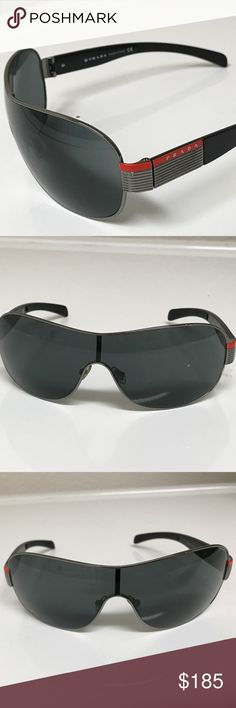 Prada men's sunglasses Very nice sunglass that has gentle used,hardly seen scratches. Prada Accessories Sunglasses