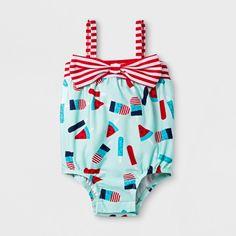 4228bf357e798 Baby Girls' Popsicle One Piece Swimsuit - Cat & Jack™ Aqua