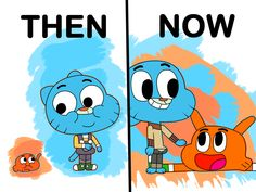 Eeeeh see what I did with that title? I am not a fan of MLP anymore but that reference was necessary. sorry Soo here we have a little FanArt of D. Friendship through the ages Adventures Of Gumball, Amazing Gumball, World Of Gumball, We Bare Bears, Cartoon Wallpaper, Darwin, Fnaf, Mlp, Cartoon Network