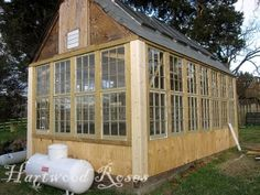green house made from old windows | Greenhouse made from old windows Backyard