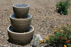 diy fontaine dans la cour, de l'artisanat à la maison de bricolage, vie en plein air, les étangs caractéristiques de l'eau