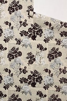 Concertina Wallpaper, York Wallcoverings, sold by Anthropologie.  Sheet music (Schubert's Trinklied) and flowers.