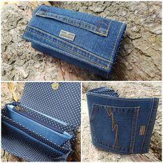 Jeansová peněženka velká. Rada.vytvarky@seznam.cz