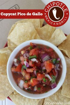 Copycat Chipotle Pico de Gallo Recipe. The perfect Pico (salsa) for our burritos and chips. Save $$'s and make this copycat at home!