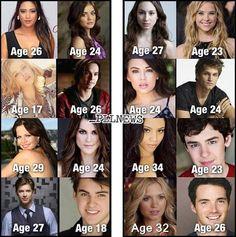 Les ages des acteurs