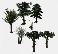 3D Tree collection - 3d model - CGStudio