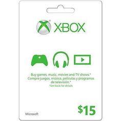 Microsoft Live Card 15 Dollars