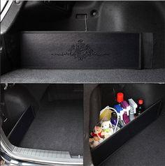 Car Trunk Side Organizer Storage Backseat Slim Side Pocket New Korea Black #KMMotors