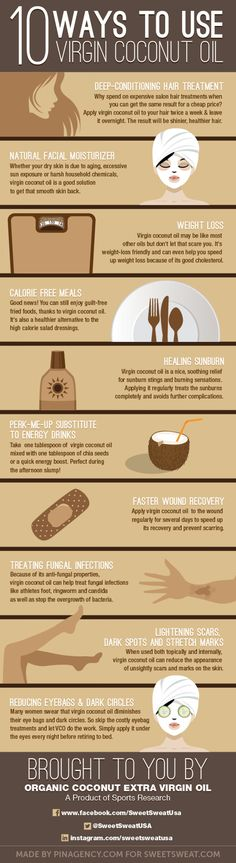 10 Ways to Use Virgin Coconut Oil  Infographic