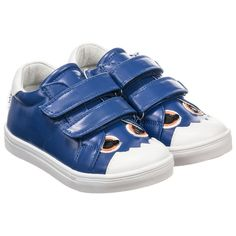 Step2wo Blue Velcro Monster Trainers. Shop from an exclusive selection of designer Shoes at Childrensalon.co.
