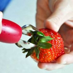 The StemGem is dishwasher safe, and easy enough for a child to use. The compact strawberry huller is easy to find and fun to use. Core almost any soft fruit with the StemGem.