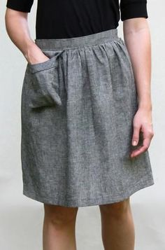 Organic Skirt with Cell Phone Pocket