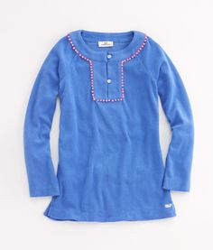 Shop Girls Terry Tunic with Trim at vineyard vines