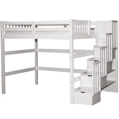 Lovely Full Size Loft Bed With Stairs