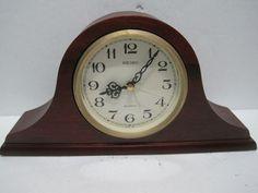 Seiko Table Clock Alarm Wooden Base Gold QQP294 B 23101C #Seiko #collections #collectibles