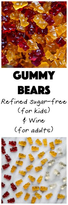 Gummy Bears | My Kitchen Love. Kid-loving, refined sugar-free treat! #candy #gummybears #sugarfree