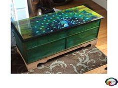 Videos and SPiT Portfolio - Michelle Nicole's Decorative Arts Studio Hand Painted Furniture, Funky Furniture, Refurbished Furniture, Paint Furniture, Upcycled Furniture, Furniture Projects, Furniture Makeover, Unique Furniture, Diy Wood Stain