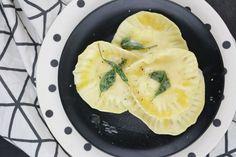 Tulpentag: Ziegenkäse-Ravioli mit Honig-Salbei-Butter