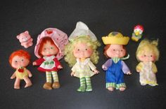 Strawberry Shortcake Dolls (I had all of them!) I even had the big strawberry carrying case. I have started my little one on collecting the new style of the dolls. My Childhood Memories, Childhood Toys, Sweet Memories, Tennessee Williams, Kickin It Old School, Strawberry Shortcake Doll, Nostalgia, 80s Kids, Oldies But Goodies