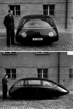 ▶▶▶ {1939} SCHLÖRWAGEN' // prototype 'aerodynamic' rear-engine passenger vehicle developed by Karl Schlor.