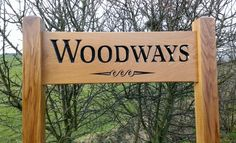 Make an Admirable Entrance to your Home/Driveway with this Wonderfully Crafted Solid Oak Large, Freestanding, Ladder Sign, personalised and 'V' engraved with yo Driveway Sign, Driveway Entrance, Driveway Landscaping, Cabin Signs, Farm Signs, Home Signs, Address Signs For Yard, Farm Entrance, Name Plates For Home