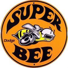 Super Bee Dodge Embossed Vanity Metal Circular Sign CS60108