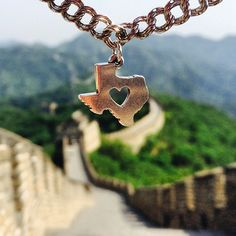 The Deep in the Heart of Texas Charm went to the Great Wall of China! Where in the world would you like to visit most? #JamesAvery