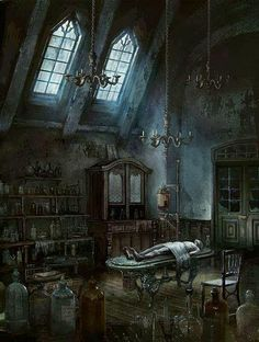 Iosefka's Clinic is an official concept artwork for the PlayStation video game Bloodborne by FromSoftware and game director Hidetaka Miyazaki. Gothic Horror, Arte Horror, Cthulhu, Bloodborne Concept Art, Bloodborne Art, Fantasy Places, Fantasy World, Fantasy Life, Dark Souls