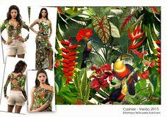 Tropical botânico. Cashier _ V15
