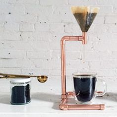 Homemade Pour Over Coffee Maker : 1000+ ideas about Homemade Modern on Pinterest Concrete Lamp, Concrete Fire Pits and Modern