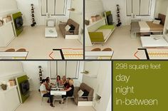 325 sq. ft. micro apartment and try out some transforming furniture: http://su.pr/2DhzOa
