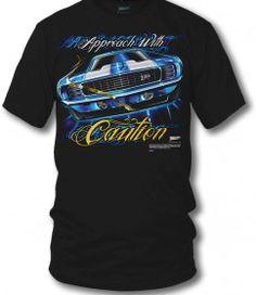 Camaro gear – Approach with Caution – 1969 Camaro Z28 camaro tee shirts – $19.99 | Wicked Metal | Corvette, Camaro, Freightliner, Sportbike ...