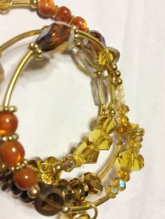 A personal favorite from my Etsy shop https://www.etsy.com/listing/462040526/amber-crystal-ceramic-beads-with-gold
