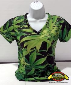 V-neck Women's Pot culture, marijuana apparel, 420 clothes. We can create anything you could imagine!