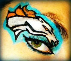 My Denver Broncos eye makeup for football season!!