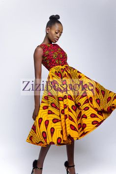 Rock ZiziBespoke gemischte Print Kleid mit abnehmbaren Rock