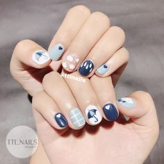 Ten simple cute nails popular with young women in 2019 Getting used to the sexy and mature manicure style and occasionally changing a simple and lovely manicure is also a good choice. Here are ten cute nails. Classy Nails, Stylish Nails, Simple Nails, Luv Nails, Pretty Nails, Cute Nail Art, Gel Nail Art, Romantic Nails, Korean Nail Art