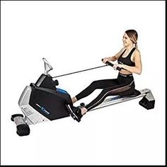 """"""" ✔ The ULTIMATE HEAVY-DUTY rowing machine for any personal space, home or office! ✔ Equipped with a 16lb inner silent magnetic system, and Easy-Dial tension adjustment to suit your personal workout goals. Tension has strong resistant levels perfect for low & high intensity workouts. ✔ Non-slip handles for optimal comfort. Commercial quality smooth rollers ~ Supports up to 250 pounds ✔ Pedals are a non-slip design, and fully equipped with secure Toe Straps for that extra forward leg thrust…"""